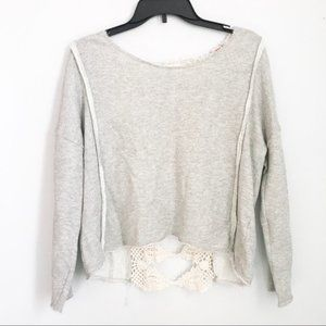 Free People Crochet Back Sweater